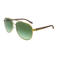 Michael Kors Gold Wood Aviator Sunglasses
