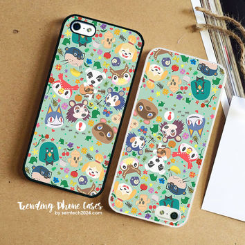 Animal Crossing New Leaf Town Folk iPhone Case Cover for iPhone 6 6 Plus 5s 5 5c 4s 4 Case