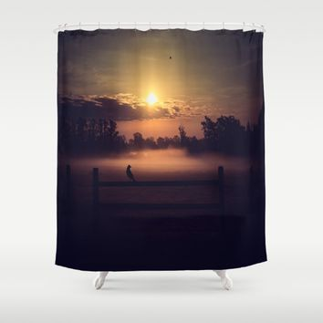 The Beginning Of The End  Shower Curtain by Faded  Photos