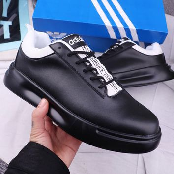 Adidas Fashionable Men Leather Sport Shoes Sneakers Black