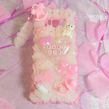 Babygirl Samsung Galaxy S8 Plus Decoden Phone Case with Drip Sauce and Whip Dangle Charm