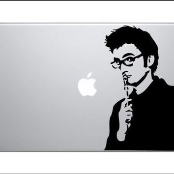 "10th DOCTOR WHO DAVID TENNANT TARDIS 10"" x 6"" DECAL STICKER FOR IPAD SHIRT LAPTOP COMPUTER MACBOOK DALEK DR."