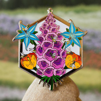 PLANT THESE Hat Pins!!! PINK Foxglove Variant!! From L.E. of 25!