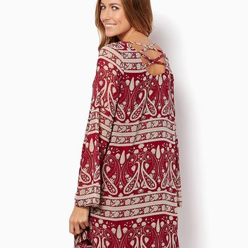 Paisley Perfection Tunic Dress | Apparel - Tops | charming charlie