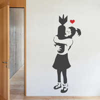 Banksy Embrace Wall Decals