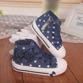 High Bowknot Canvas Shoes