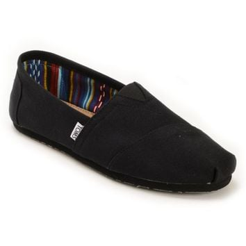 Toms Classics All Black Slip On Mens Shoes