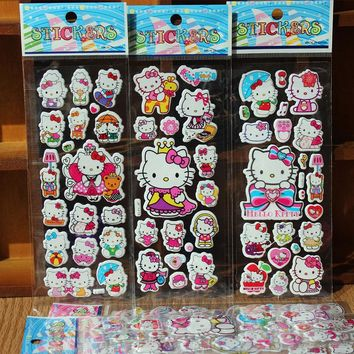 10pcs/lot New Cute Lovely hello kitty Emoji Smile Sticker For Notebook Message High Vinyl Funny Creative