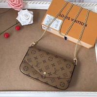 Louis Vuitton LV Pochette Felicie Chain Wallet