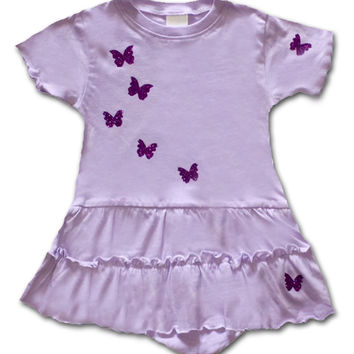 Baby Girl Lavender Butterfly Dress