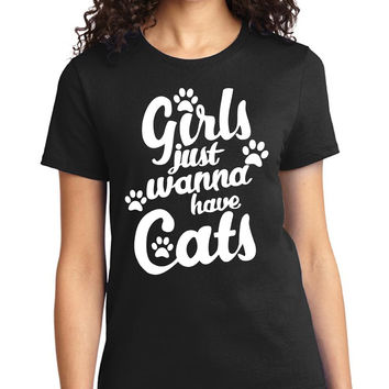 Girls Just Wanna Have Cats Tee