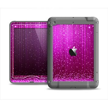 The Abstract Pink Neon Rain Curtain Apple iPad Air LifeProof Nuud Case Skin Set