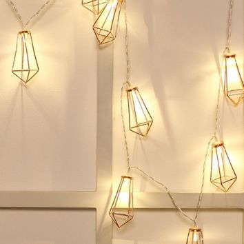 Geometric Lampshade 10PC String Light