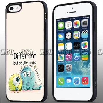 "RCO - Best Friend Quotes ""Different but Bestfriend"" Custom Case for Iphone 4 4s 5 5c 6 6plus (iphone 6 black)"