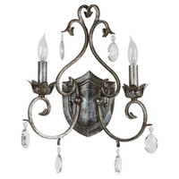 Arlington 2-Light Wall Sconce in Weathered Silver