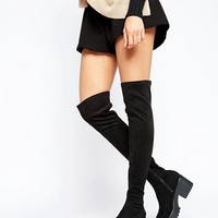 Pull&Bear Over The Knee Boots at asos.com