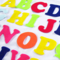 Felt Alphabet Letters - Fabric Applique or Play - Upper Case - Educational - 3 inch die cut