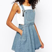 Denim Straps Pocket Dress