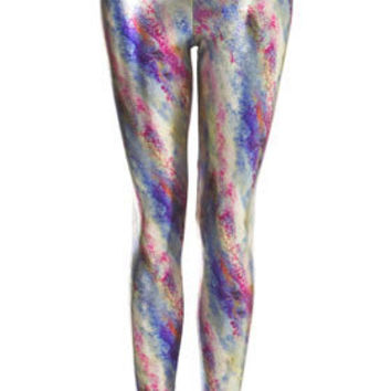 Multi Coloured Foil Leggings
