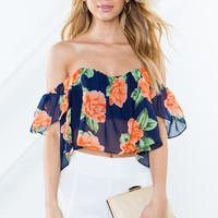 Pretty Bloom Off Shoulder Top