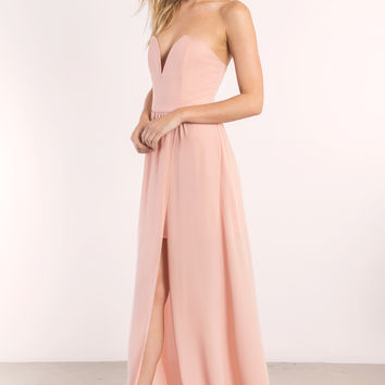 Krystal Strapless Maxi Dress