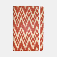 "Heidi Jennings ""Tribal Chevron Red"" Tan Maroon Everything Notebook"