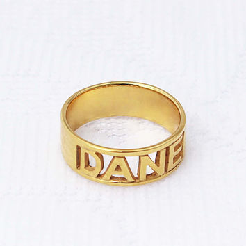 Cutout Name Ring - Name Ring - Unique Ring - Silver Jewelry