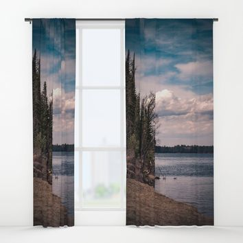 Breathe Again Window Curtains by Faded  Photos