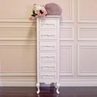 Shabby Cottage Chic 6 Drawer Lingerie Chest - Chests - FURNITURE