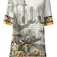 Dolce & Gabbana Ancient Ruins Temple Print