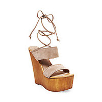 Lace Up Platform Wedge Sandals | Steve Madden BEACHBAR