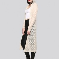 Wild Heart Hooded Duster - Ivory