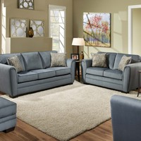 Simmons 5154 Innerpeace Cornsilk Sofa and Loveseat