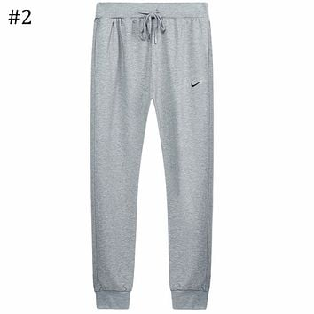 NIKE 2018 autumn and winter models men and women couples sports small feet pants F0669-1 #2