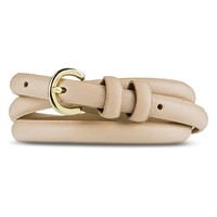Women's Solid Blush Belt with Gold Buckle