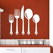 Wall Decal Vinyl Sticker Decals Knife Fork Spoon Vintage Pattern Cutlery Dining Room Cafe Kitchen Decor Interior Window Decal Art Murals C430