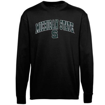 Michigan State Spartans Youth Midsize Long Sleeve T-Shirt – Black - http://www.shareasale.com/m-pr.cfm?merchantID=7124&userID=1042934&productID=547697312 / Michigan State Spartans