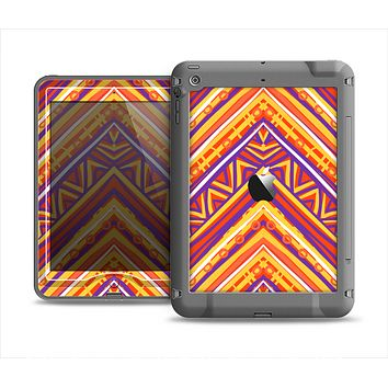 The Red, Yellow and Purple Vibrant Aztec Zigzags Apple iPad Mini LifeProof Nuud Case Skin Set