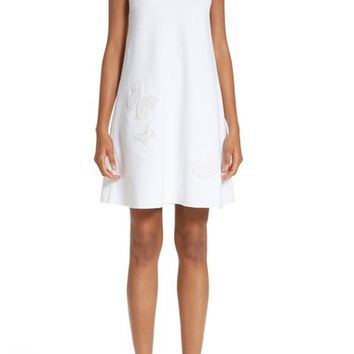 Valentino Butterfly Lace Yoke Dress | Nordstrom