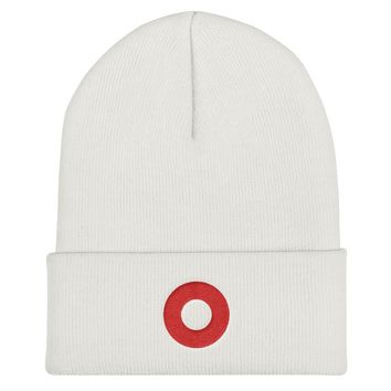 Phish Fishman Embroidered Red Donut Cuffed Beanie