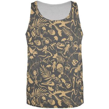 ESBGQ9 Dinosaur Fossil All Over Adult Tank Top