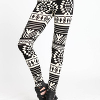 SOUTHWESTERN KNIT LEGGINGS