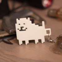 Undertale Annoying dog geek 8bit pixel key-chain