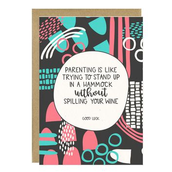 Without Spilling Your Wine New Baby Card