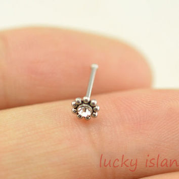 sunflower nose ring,316L Surgical Steel Nose Rings,cute flower nose ring stud,friendship gift
