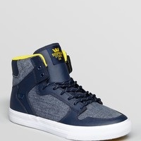 Supra Vaider Chambray High Top Sneakers | Bloomingdale's