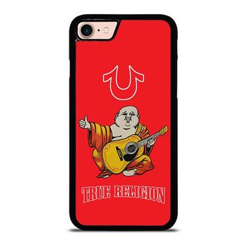 RED BIG BUDDHA TRUE RELIGION iPhone 8 Case Cover