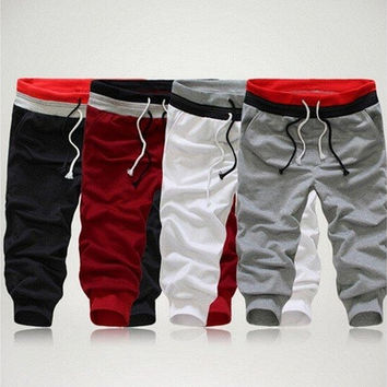 Men Sports Pants Harem Training Dance Baggy Jogger Casual Trousers Shorts Slacks [9305658631]