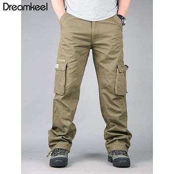 2019 Camouflage Tactical Military Fatigues Cargo Pants Men's Cotton Loose Military