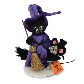 Annalee Dolls 6in 2018 Halloween Witch Cat & Mouse Plush New with Tags